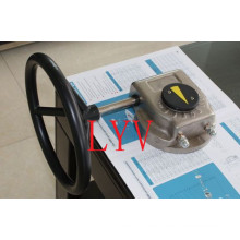Single Part-Turn Worm Gearbox with Actuator of Valves