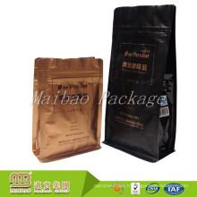 Sacs de café flexibles adaptés aux besoins du client d'emballage d'aluminium de tirette rescellable de tirette de catégorie comestible Malaisie