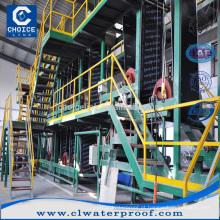 Alta qualidade SBS / APP modificado betume impermeabilização membrana linha de produção linha fazendo máquina