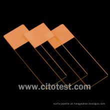 Lâminas do microscópio da cor (0304-6101-10)