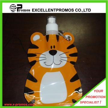Preciosa forma de tigre plástico plegable botella de agua 350 ml de capacidad (EP-B125513)