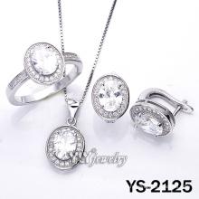 Simplicity Micro Pave CZ 925 joyas de plata esterlina (YS-2125)