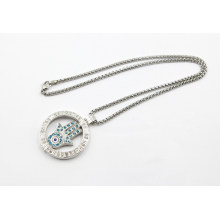 Nouveau design Memory Locket avec Pierres Collier de mode