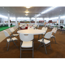 Wholesale 6 Foot 1.8mater Round Fast Food Restaurant Folding Dining Table with 10seater