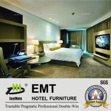 Lujoso dormitorio dormitorio rey cama conjunto (EMT-A1204)