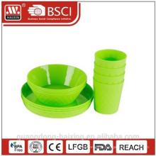 Set de 4 bol gaufré plaque avec tasse