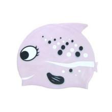 Sombrero de natación de goma de silicio de dibujos animados para niños