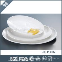 Assiette ovale best-seller, vaisselle en porcelaine blanche pour hôtel