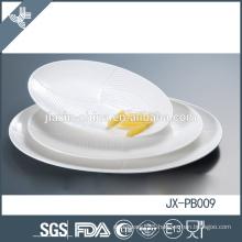 Best-selling oval dinner plate, white porcelain tableware for hotel