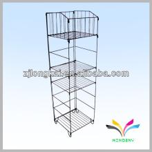 4 estanterías 1 basurero desmontable almacenar estantería de alambre de acero inoxidable