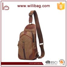 Sports Casual Canvas Crossbody Ombro Peito Bag Sling Bag