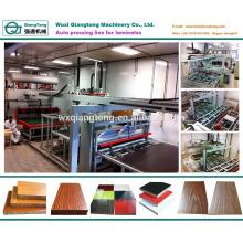 Kurze Zyklus Melamin Laminierung Heißpressmaschine für Holz Möbelplatte