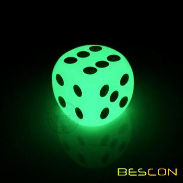Six Sided Glow in Dark Luminous Dice 16MM