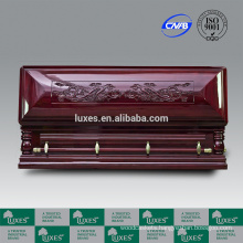 chinese casket good quality full couch casket with elegant carved