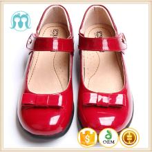 2017 kids flat shoes new year red children PU shining colourful shoes dress girls school uniform sandal