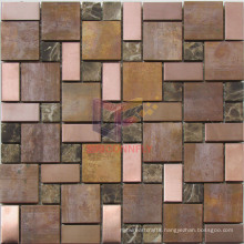 Antique Style Copper Mix Marble and Steel Mosaic (CFM1004)