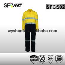 Housse de sécurité vêtements de sécurité réfléchissante hy vis vis-à-vis pour homme 100% coton tissu AS / NZS 1906.4: 2010