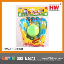 Engraçado brinquedo esporte miúdos luva de beisebol e bola mini-luva de beisebol