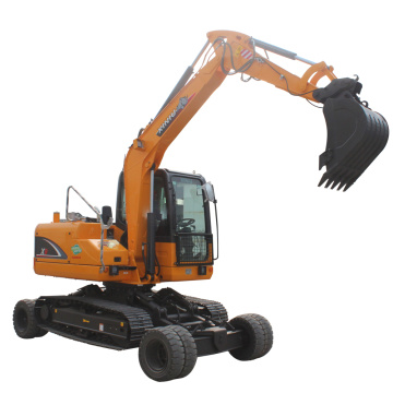 patent product Wheel-Crawler Small Wheel Excavator Trench Digger Machine