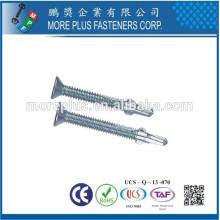 Hecho en Taiwán Acero inoxidable caliente Dip galvanizado cabeza plana autoperforación tornillo