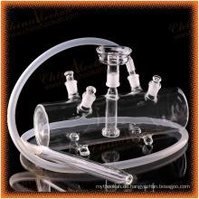 Großhandel 4 Schläuche billig Shisha alle Glas Wasserpfeife