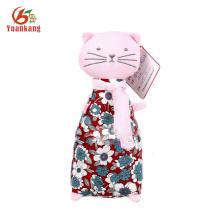 Muñeca linda del gato de la felpa del juguete 24cm de encargo con ropa