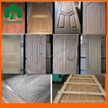 3.0mm-4.5mm HDF Natural Veneer Faced Mould Door Skin