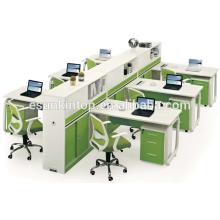 Mesa de escritório em forma de madeira de 6 pessoas mesa de escritório usada