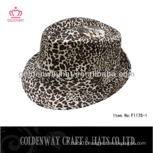 leopard print fedora hat party hats top selling 2013 new design factory direct hats