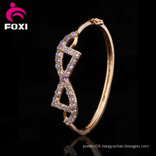 Different Design Style 18k Gold Plated Zircon Jewelry Bangles