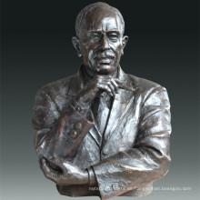 Estatua de gran figura Economista Keynes Escultura de Bronce Tpls-082
