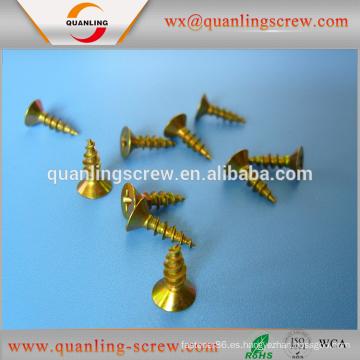 Venta por mayor de productos de china plana Tornillo del drywall cabeza tamaño pequeño conglomerado