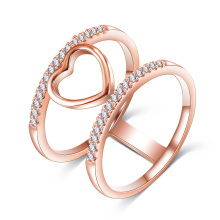 Newest Bling Jewelry Gold Plated Heart Ring (CRI1035)