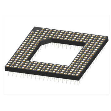 Presa per array di griglie pin PGA lavorata 2,54x2,54 mm