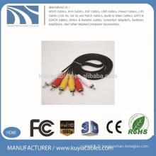 1.5m 3rca à 3rca cable câble vidéo audio mâle à mâle