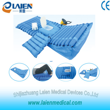 Medical inflatable mattresses with back rest and toilet