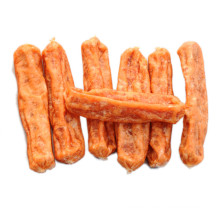 factory wholesale dry chicken jerky sausage pet feed food snacks for dogs