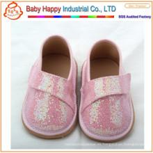 Zapatos chillones de goma de las lentejuelas del ornamento popular modificado para requisitos particulares