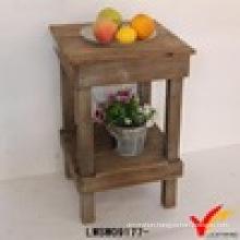Handmade Rustic Square Farm Narraow Wood Table