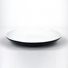 Best Price Round Ceramic Restaurant Blue round Plate