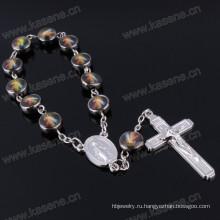 Фабрика сразу просто конструкция Христианский вероисповедный браслет цепи Saint Beads