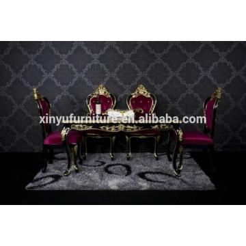 Conjunto de jantar de madeira de luxo XYN2841