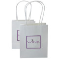 Simple Beauty Elegant Handle Bolsa de papel blanco