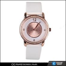 PU leather strap quartz watch alloy case watch