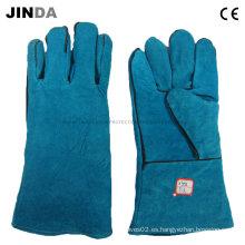 Cuero de vaca guantes de soldadura industrial (l011)