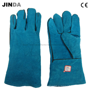 Промышленные сварочные перчатки из натуральной кожи (L011)