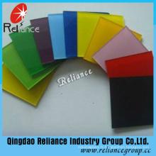 Verre peint blanc de 5mm / verre de cuisson (noir, rose, vert, jaune, bleu)