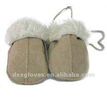 baby sheepskin winter gloves