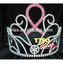 Corona cristalina de la tiara de la reina del cristal del desfile grande