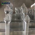 diseño forjado de fábrica decorativo del pollo del panel de la cerca de aluminio